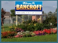 Welcome To Bancroft Sign
